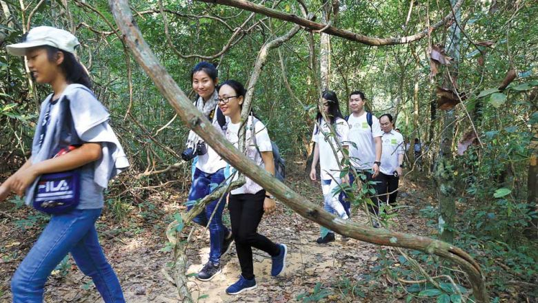 Trekking becomes a new attraction at Angkor Park